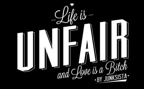 Life is Unfair logo, designed by Fabio Soares