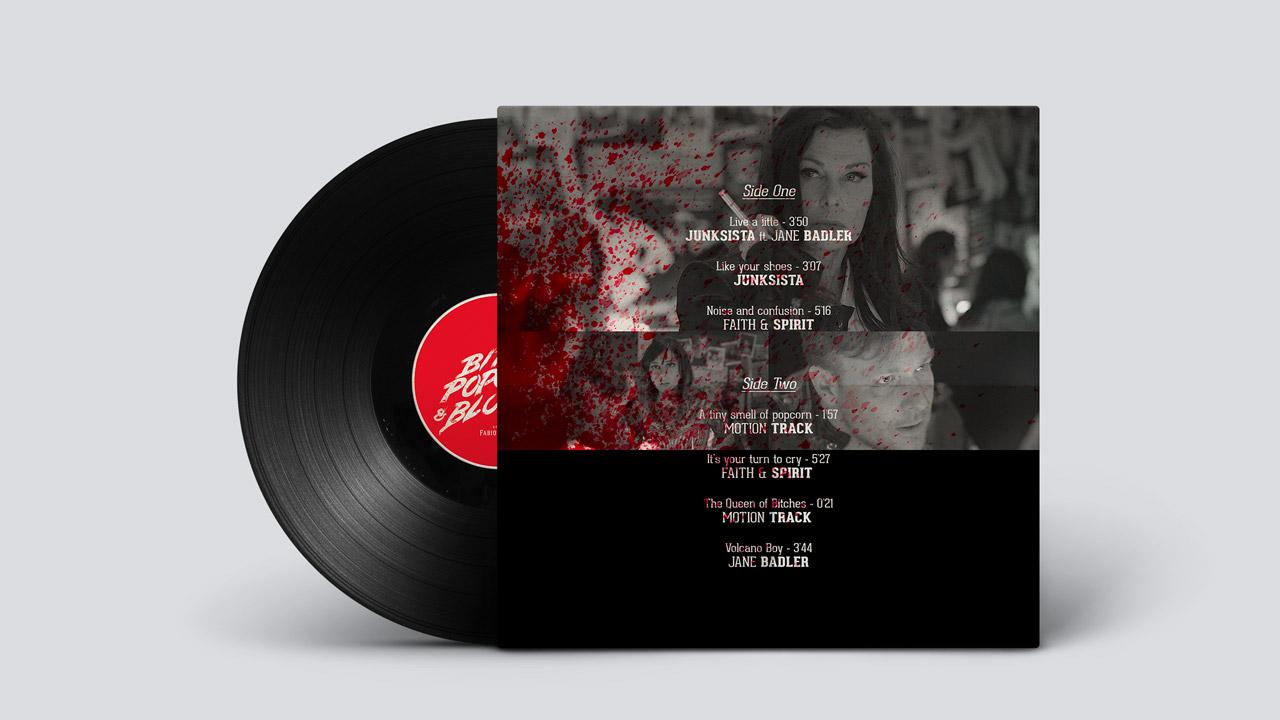 Bitch, Popcorn & Blood OST vinyl / Back