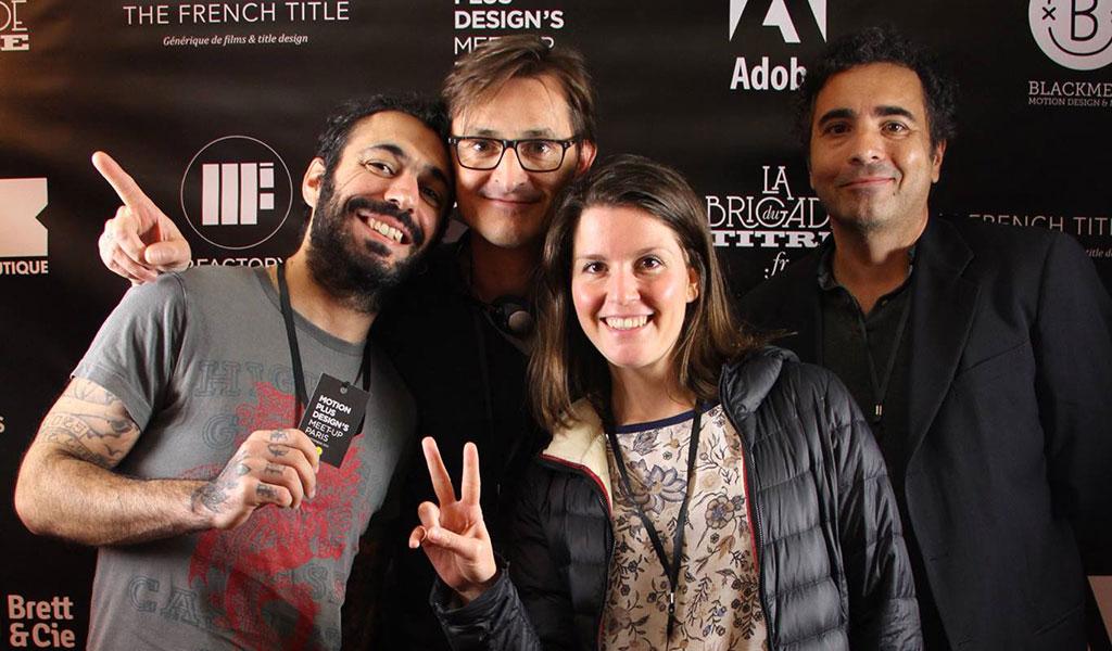 At Motion Plus design 2015, with Fabio Soares, Arno Creignou, Dominique Lépine and Valérie Paillocher
