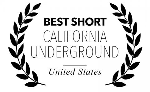 Best Short Film for Bitch, Popcorn & Blood - California Underground Film Festival