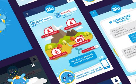 Blu App / design by Fabio Soares
