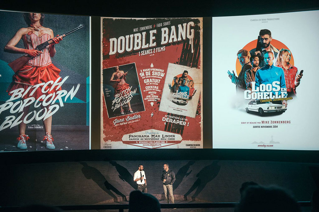 Fabio Soares and Mike Zonnenberg at Double Bang premiere, Max Linder, Paris