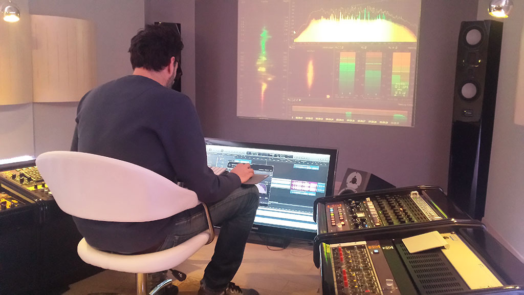 Mastering session at Color Sound Studio for Bitch, Popcorn & Blood vinyl