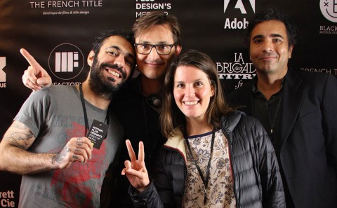 At Motion Plus design 2015, with Fabio Soares, Arno Creignou, Dominique Lépine and Valérie Paillocher