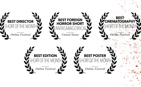 Five new awards for Bitch, Popcorn & Blood, at Fantasmagorical Film Festival and Short of the Month