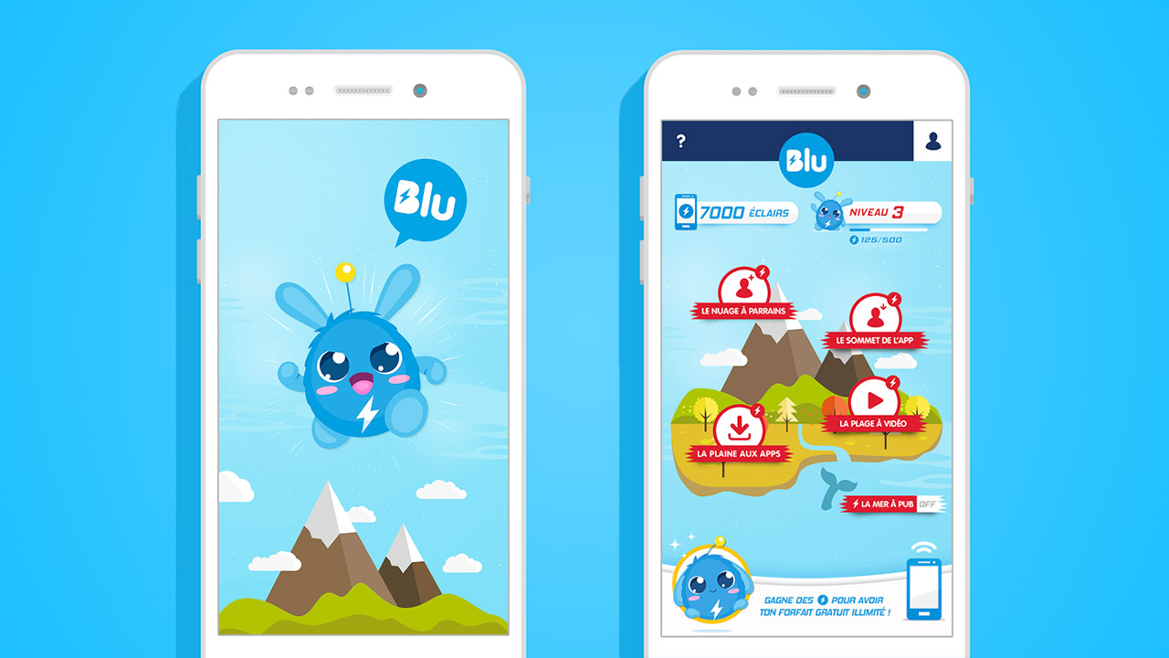 Blu App / design by Fabio Soares