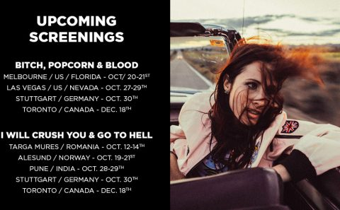 Upcoming Screenings for I Will Crush You & Go To Hell, and Bitch, Popcorn & Blood