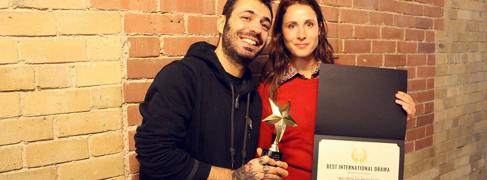 Fabio Soares Lise Gardo award at Toronto for I Will Crush You & Go To Hell