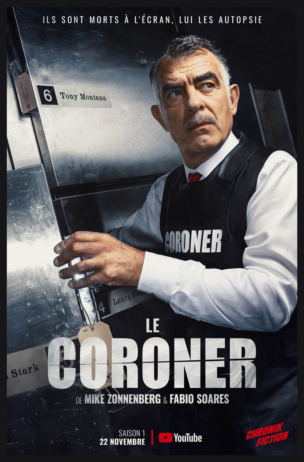 Le Coroner - season 1 - poster designed by Fabio Soares
